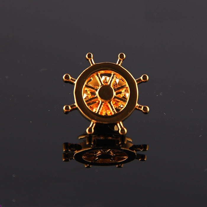 SHIPWHEEL GOLDEN LAPEL PINS