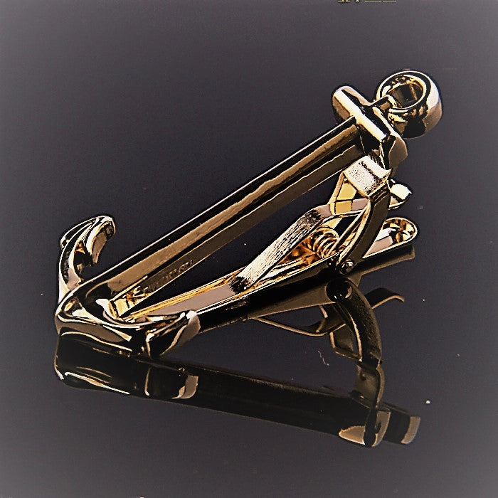 ANCHOR GOLD TIE CLIPS