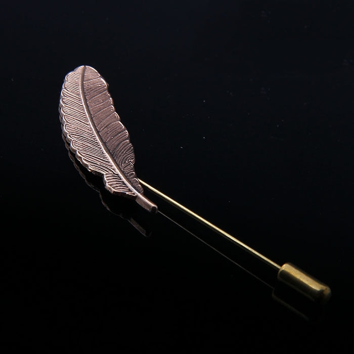 METAL FEATHER LAPEL PINS