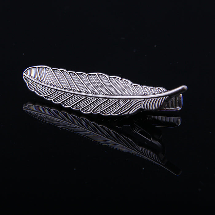 FEATHER METAL TIE CLIPS