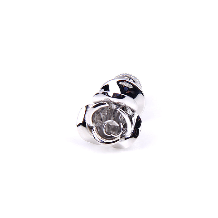 SILVER ROSE LAPEL PINS