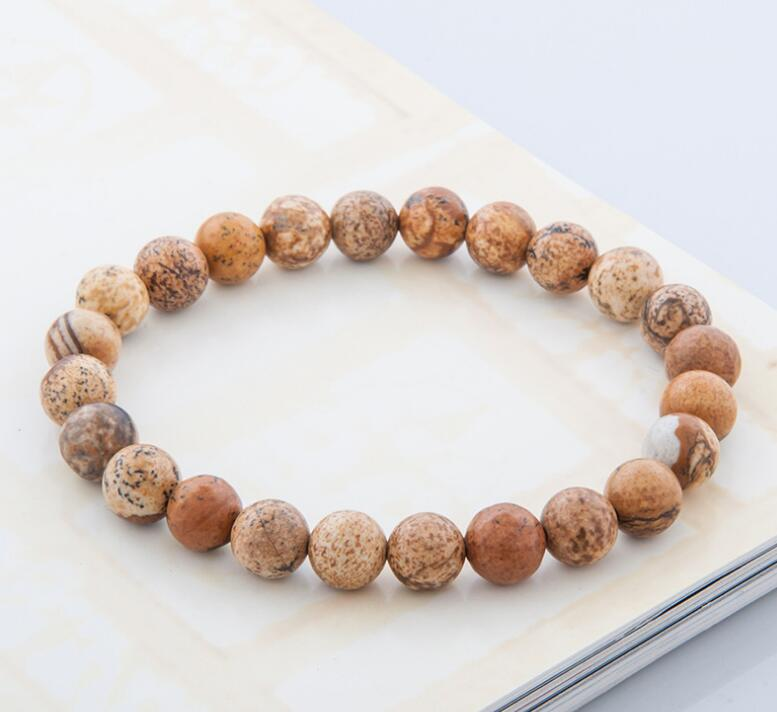 NATURAL STONE BEADS STRETCH BRACELETS