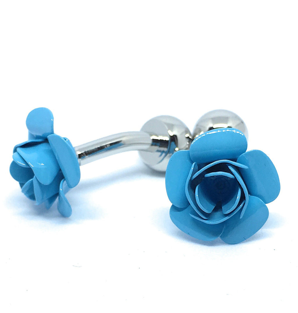 BLUE ROSE CUFFLINKS