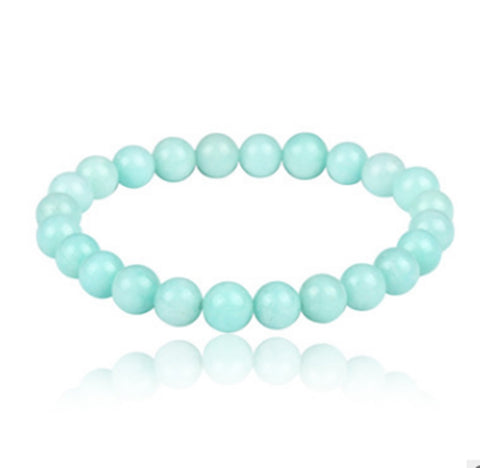 NATURAL WHITE STONE BEADS STRETCH BRACELETS