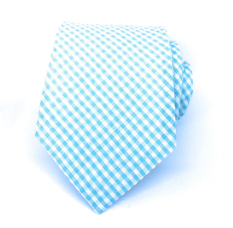 GINGHAM PLAID SEERSUCKER TIES