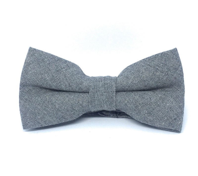SOLID COTTON BOW TIES