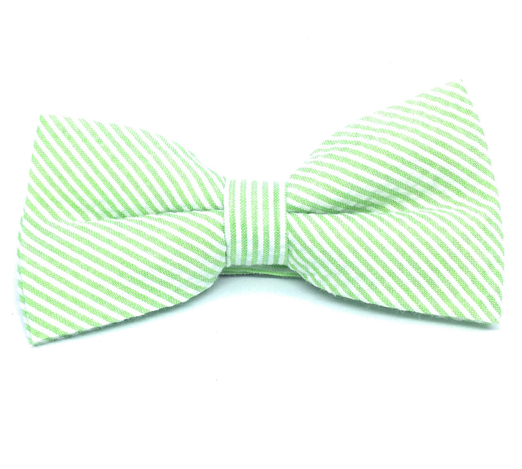 THIN STRIPE SEERSUCKER BOW TIES