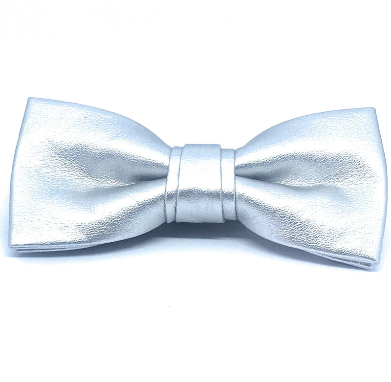 FAUX LEATHER BOW TIE
