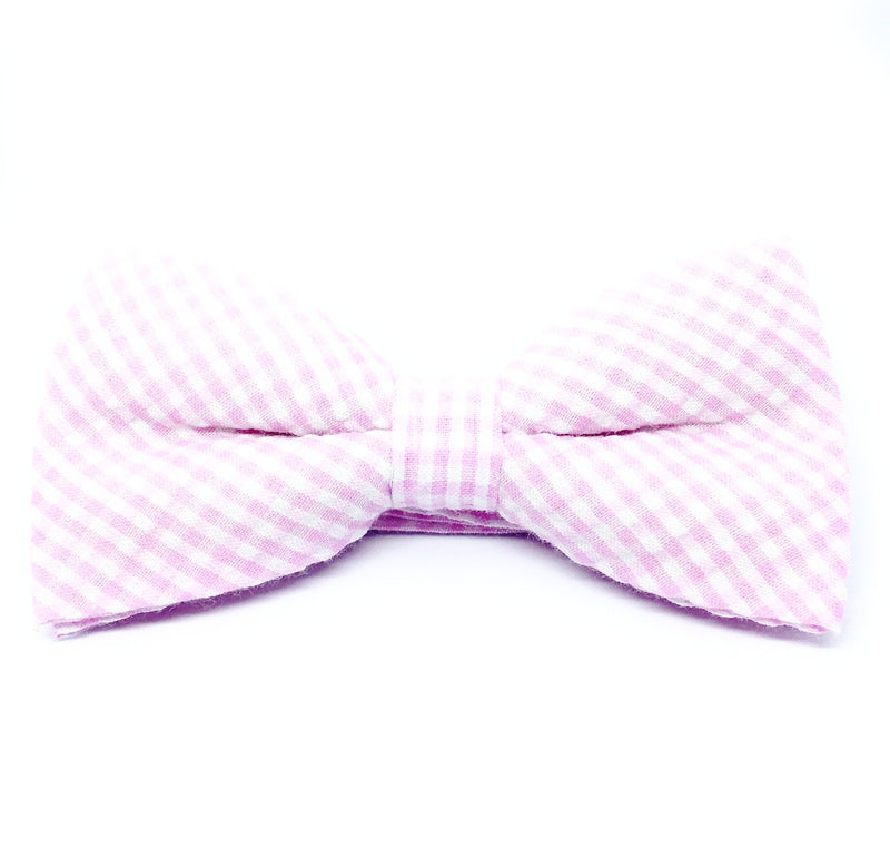 GINGHAM PLAID SEERSUCKER BOW TIES
