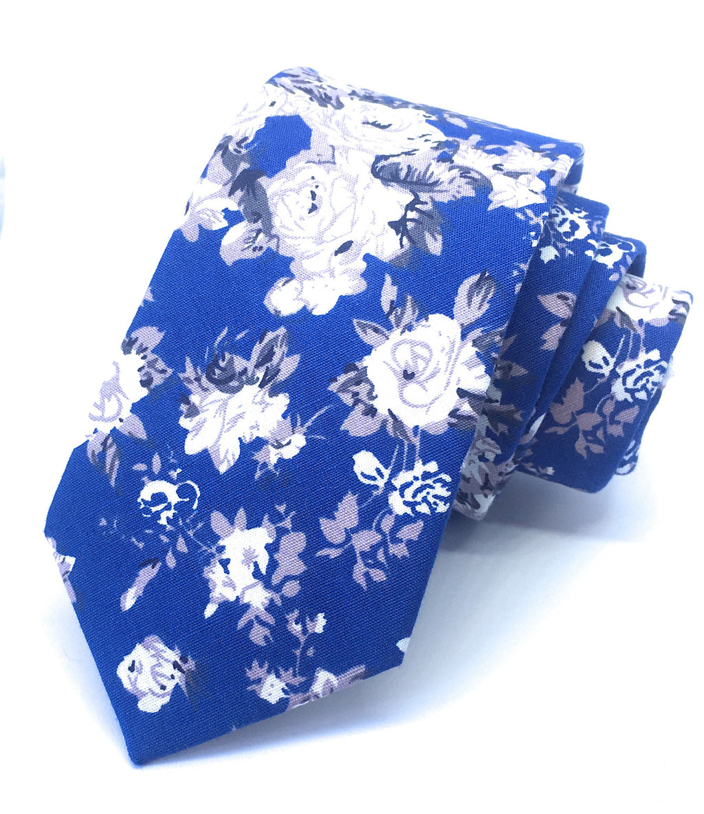 WHITE ROSE FLOWER TIES