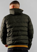 Hooded insulated jacket - hunting green