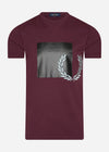 Tonal graphic t-shirt - mahogany