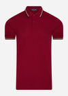 Twin tipped fred perry shirt - claret french navy