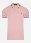 Twin tipped fred perry shirt - chalky pink