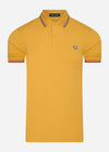 Twin tipped fred perry shirt - dijon yellow