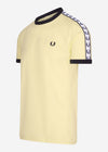 Taped ringer t-shirt - lemon sorbet
