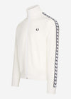 fred perry taped track jacket white