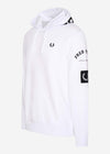 Bold branding hooded sweatshirt - white