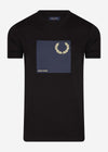 Laurel wreath graphic t-shirt q2 - black