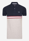 Block colour polo - navy