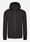 mastrum softshell jas zwart