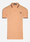 Twin tipped fred perry shirt - light coral