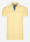 barbour tartan pique polo yellow