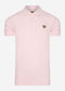 Plain polo shirt - stonewash pink