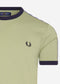 fred perry taped ringer seagrass