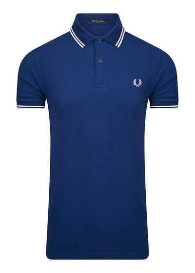 fred perry polo blauw