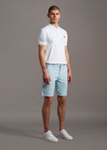 Lyle and Scott chino shorts deck blue