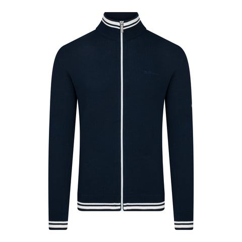 KNITTED TRACK TOP - DARK NAVY