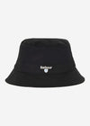 barbour bucket hat black