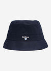 barbour bucket hat navy