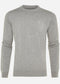 Pima cotton crew neck - grey marl