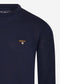 barbour merlot crewneck navy