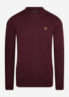 barbour crewneck merlot red