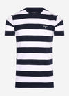 Beach stripe tee - navy