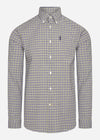 barbour gingham overhemd forest