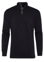barbour half zip knit trui