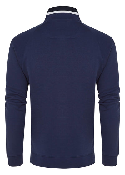 BAY HALF ZIP SNAP - REGAL BLUE