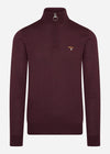 barbour merlot knitwear red
