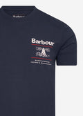 barbour t-shirt navy