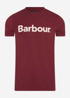 barbour logo tee ruby