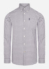 barbour gingham overhem grey