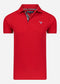 Barbour tartan pique polo - red / dress