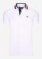 Hawkeswater tipped polo - white red blue