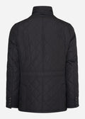 barbour quilted jas jacket black
