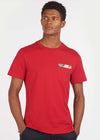 Durness pocket tee - chilli red