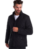 barbour quilted jas zwart